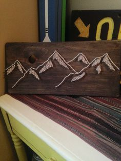 Mountain Range  Rustic Nail Art  Mountains  by CrookedTreeTraders
