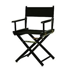 Casual Home 18″ Director's Chair Black Frame with Black Canvas