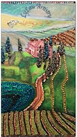 Sequined Tuscany painting