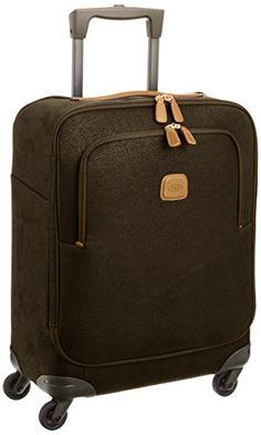 9efd0925e Brics Luggage Life 21 Inch Ultra Light Carry On Spinner Olive One Size ***