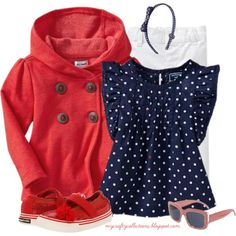 Toddler Girl's Outfit: Red, White, & Blue, created by angiejane on Polyvore