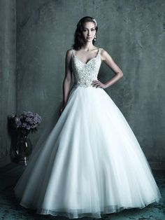 Gorgeous!  All swarovski crystal top gown with full tulle bottom.  Gown is in store!