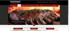 Website design for a restaurant in the suburbs.