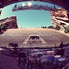 View from the stage at Red Rocks Amphitheatre // use #MeetBall custom map to #NavigateTheCrowd & #FindYourParty