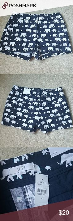 NWT Loft Rivera Fit Elephant Linen Shorts So adorable, just didnt get to wear them before they became a smidge too small. These sold out! 55% linen, 45% cotton. LOFT Shorts