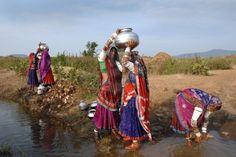 Banjara India gypsy women with water jugs