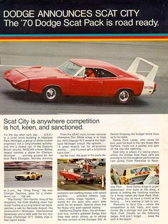 "Muscle Car Ad Campaigns ""The Scat Pack"" 