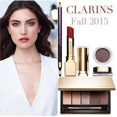 Clarins Fall 2015 Collection Sneak Peek. Oh my goodness, NEED not want that lipstick!