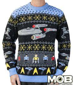 Star Trek: Original Series sweater $84.99. 100% acrylic (unfortunately!)
