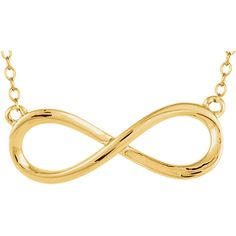 "Yellow Infinity 18"" Necklace 14kt"
