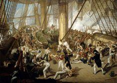 The Fall of Nelson, Battle of Trafalgar, 21 October 1805 ~ ca1825 by Denis Dighton