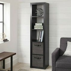 Cube Storage Unit Wooden Black 5 Cubby Organizer Bin Box Cubicle Home Furniture Shelf Bins, Cube Shelves, Cubbies, Storage Shelves, Storage Spaces, Tall Cabinet Storage, Cube Storage Unit, Cubicle, Home Furniture