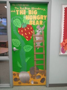 "Door decoration for the book ""The Little Mouse, The Red Ripe Strawberry, and The Big Hungry Bear""."