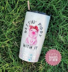 Please allow weeks for production time as each cup is made to order. Have your morning coffee or any other drink of choice in this super cute and sparkly cup. This is a Stainless Steel Cup Diy Tumblers, Custom Tumblers, Glitter Tumblers, Tumblr Cup, Cup Crafts, Yeti Cup, Cute Cups, Tumbler Designs, Glitter Cups