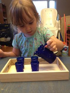Practical life invitation ideas (Montessori).