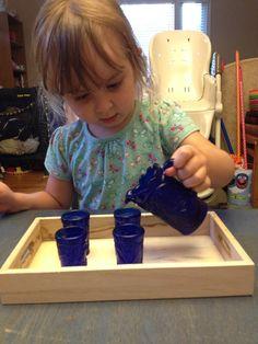 Practical life invitation ideas (Montessori).