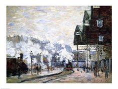 Gare Saint-Lazare, Paris, Art Print by Claude Monet