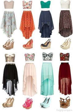 high-low cute skirts for summer <3 :)