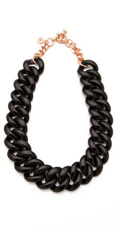 Marc by Marc Jacobs 'Candy Turnlock' chain necklace $118, get it here: http://rstyle.me/iaenr2mtu6