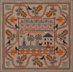 Autumn in the Country - Cross Stitch Pattern  by Just Nan