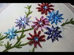 Hand Embroidery Designs | Basic embroidery stitches # Part-9 | Stitch and Flower-105 - YouTube