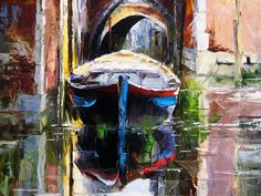 'Venice Reflections' by Gleb Goloubetski Oil on Canvas 80cm x 50cm
