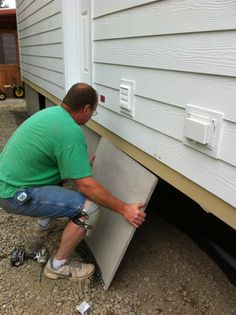 diy mobile home skirting mobile home remodel pinterest house