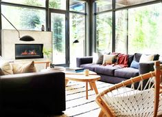 Eclectic and layered living room