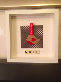 Christmas robin scrabble frame. Perfect gift or decoration. #Noel