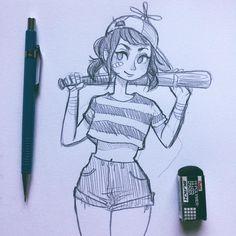 ⚾️ #sketch #sketchbook #illustration #doodle #pencil