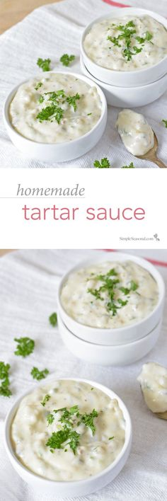 the bottled stuff just doesn't cut it, this ridiculously easy recipe will give you restaurant-quality tartar sauce in just minutes flat! Recipe For Tartar Sauce, Homemade Tartar Sauce, Sauce Recipes, Fish Recipes, Seafood Recipes, Cooking Recipes, Recipies, Chutney, Pesto