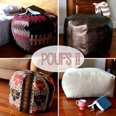 Home made Pouf tutorial!  Ooh....