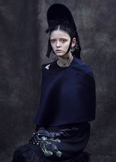 misty dawn: clara mcnair by léa nielsen for vogue.it! | visual optimism; fashion editorials, shows, campaigns & more!