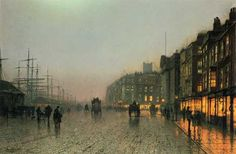 Liverpool from Wapping, John Atkinson Grimshaw