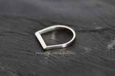 Size 7 Sterling Silver Handmade Jewelry Razor Ring by Diito, $35.00