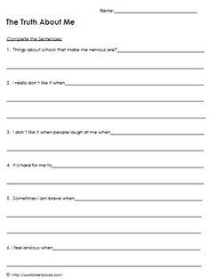 Mental Illness: Mental Illness Worksheets