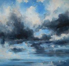 Krefter i himmelrom landskap av Hilde Grønstad Sunde - GalleriEKG.no Clouds, Drawings, Artwork, Outdoor, Heavens, Abstract, Nature, Kunst, Outdoors