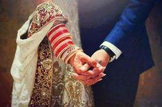 Bride & Groom Hold Hands