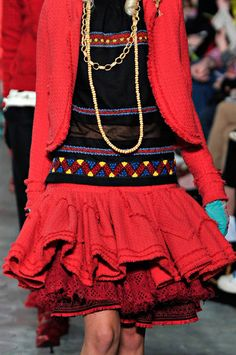 meadham kirchhoff  f/w 2011. For more ethnic style and traditional inspirations, visit www.wandering-threads.com
