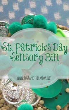 Create this fun sensory bin for St. Patrick's Day or make a few quick changes and you're all set for a lesson on the color green.