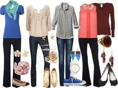 """Teacher Outfits on a Teacher's Budget: Jeans"" by allij28 on Polyvore"