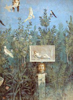 House of the Golden Bracelet garden room mural, Pompeii, AD 79