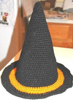 Crochet Witch Hat               Enjoy this Fun Witch  Hat Pattern!     My Crochet You Tube Channel:  https://www.youtube.com/user/amray767 ...