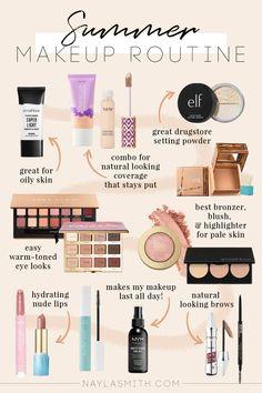 Natural Glowy Makeup, Natural Summer Makeup, Summer Makeup Looks, Makeup Routine, Makeup Kit, Makeup Hacks, Makeup Inspo, Makeup Ideas, Beauty Makeup