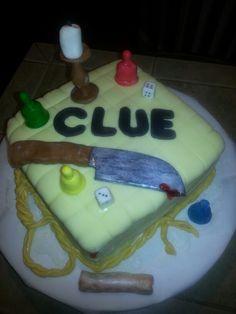 Clue game cake