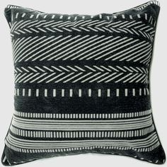 EU31 -Black White Arrow Line Specialist Velvet Style Sofa Pillow Cases... ($11) ❤ liked on Polyvore