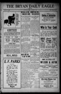 100 Years Ago Today: 10/27/1913 (27 issues)...The Library of Congress has collected thousands of newspapers from all over the U.S. since 1836 in its Chronicling America section. You can browse more than 100 newspapers printed from 1836 to 1922 online.