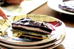 Blueberry Cream Tart with Walnut Carob Crust + Vegan, Raw, Paleo, GF