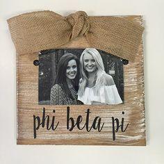 Pi Phi sorority gift Pi Beta Phi photo frame holds a 4 X 6 inch picture SALE 50/% off Pi Beta Phi sorority frame Sorority Big sister gift