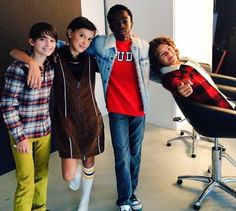 i absolutely love how Gaten is different than the others in every picture! He always makes me smile♥